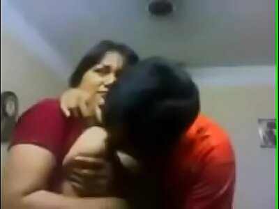 My aunty kissing me and interior desirous of